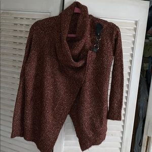 Sweater with hook detailing